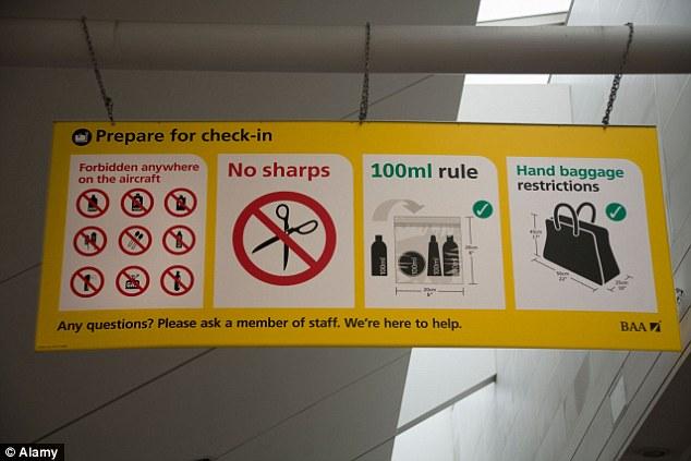 항공기, 위탁 수화물 및 기내 수화물 반입 규정