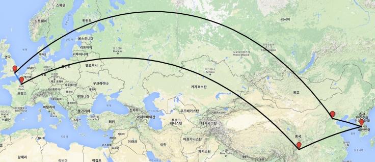 Map_SEL-BJS-LON_PAR-CTU-SEL