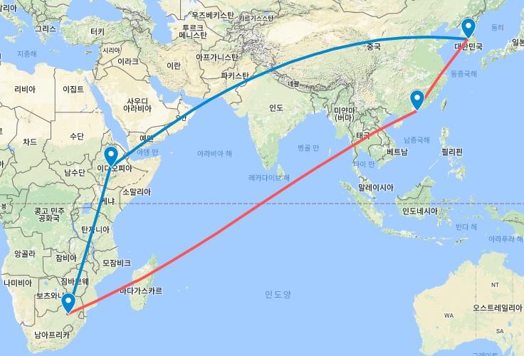 Route_SEL-ADD-JNB-HKG-SEL